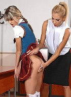 Gina schoolgirl is caught and spanked by dominant